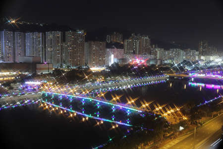 suspense: the Festive Lighting in Sha Tin hk