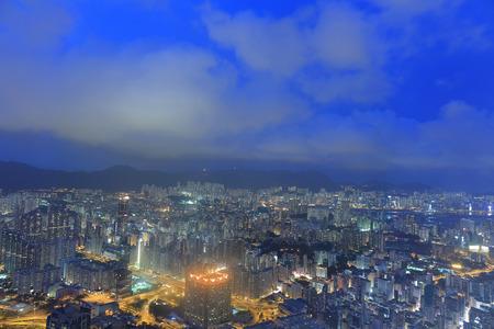 kowloon: the kowloon night skyline at night