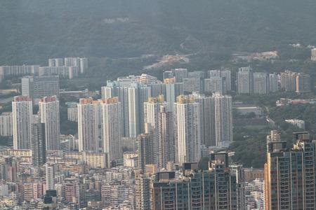 kowloon: the Kowloon side of cityscape Stock Photo