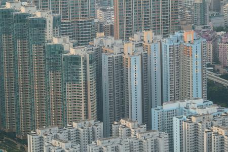 kowloon: the kowloon cityscape with landmark building