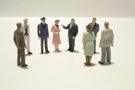 tiny: the fun of figure in miniature world Stock Photo