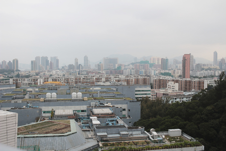 tong: the kowloon cityscape of sky from kowloon tong