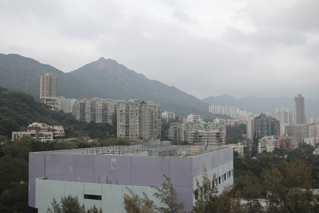 kowloon: the kowloon cityscape of sky from kowloon tong