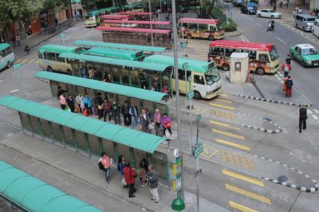 mini bus: the Luen Wo Hui  mini bus stop