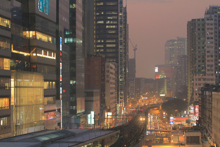 famous industries: the kwun tong district near the subway station