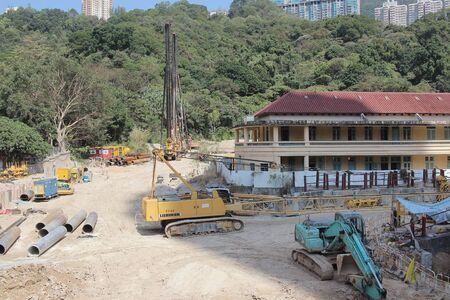 rd: the construction site at Clear Water Bay Rd