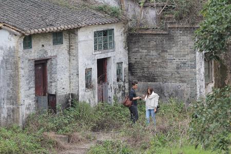 sha lo tung: villager in Sha Lo Tung, tai po at 2016