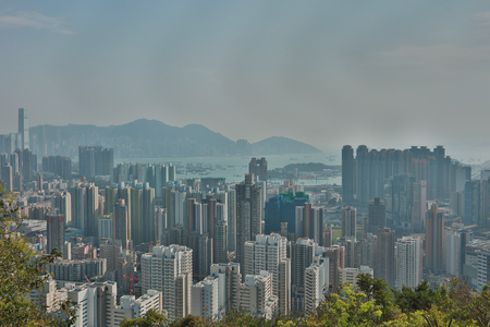 icc: Hong Kong cityscape seen from the top of Crows Nest Nature