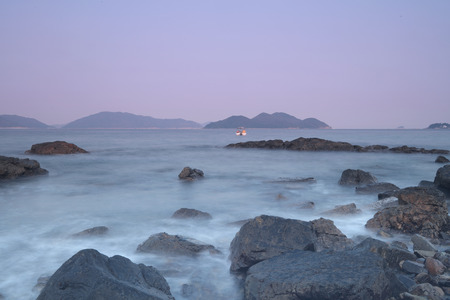 the Stones on shore of the Port Shelter hk