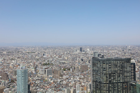 moon  metropolis: the Tokyo downtown streets Shinjuku skyscrapers  2016