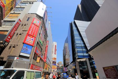 pedestrians: the pedestrians at Kabuki-cho district in Shinjuku, Tokyo Japan. Editorial