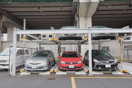 auto hoist: the Double story parking in Japan 2016 Editorial