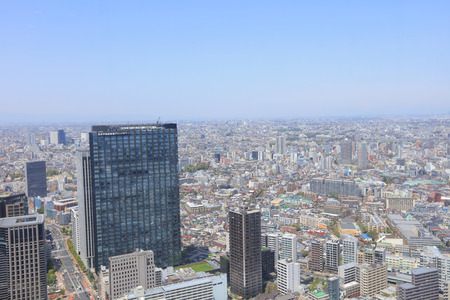 urban sprawl: the urban sprawl cityscape with Toshima and Shinjuku wards Editorial