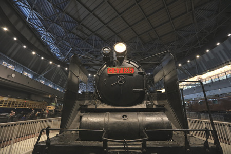 bogie: Old trains in railway museum of Omiya, Japan
