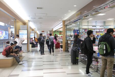 harajuku: A Harajuku souvenir duty free shop at Narita International Airport 2016 Editorial