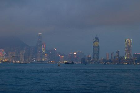 habour: Skyline of Hong Kong victoria habour 2016