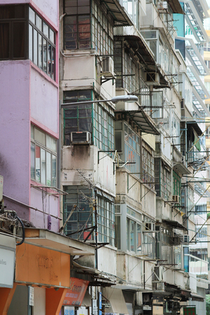 tenement: Tong lau  Kee lau  Qilou  tenement building in Hong Kong Stock Photo