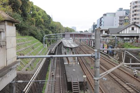 harajuku: the railway view at the top at Harajuku tokyo