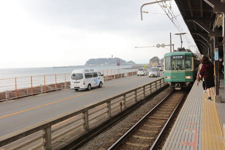 enoshima: Enoshima Dentetsusen landscape at Kamakura, Japan