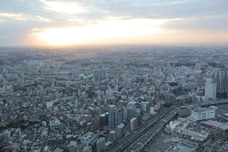 minato: View of Minato Mirai 21 in Yokohama, Japan at2016