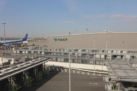 to depart: The aircraft preparing to depart at Haneda International airport Editorial