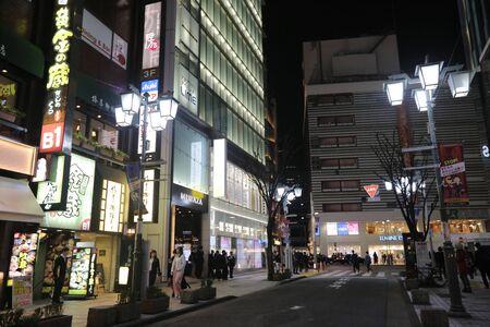 distric: Billboards and crossroad in Shinjukus Kabuki-cho distric