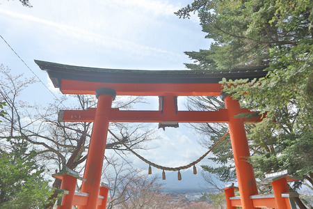 kawaguchi ko: Chureito Pagoda, Arakura Sengen Shrine in Japan