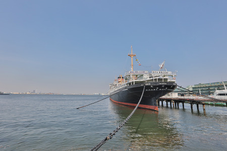 maru: Hikawa Maru on the shore of Yokohama port