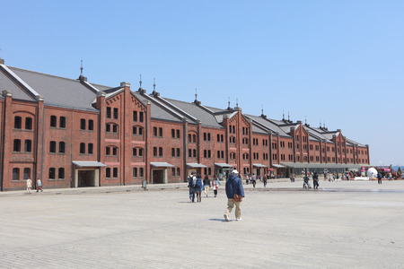 famous industries: Historical Red Brick Warehouse in Yokohama, japan