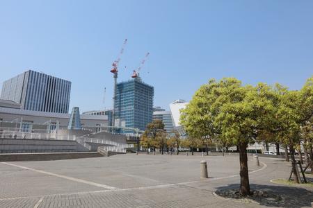 minato: View of Minato Mirai 21 in Yokohama, Japan Editorial