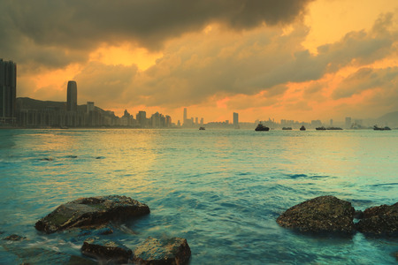 hk Sunset, Yau Tong Lei Yue Mun water bay