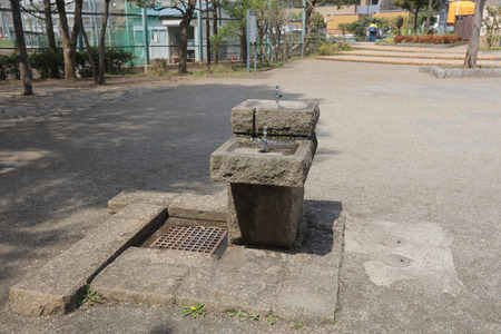 gulp: the tap water for drink in park at japan