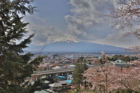 step up: view of fuji mountain from step up way  to Arakura Sengen Editorial