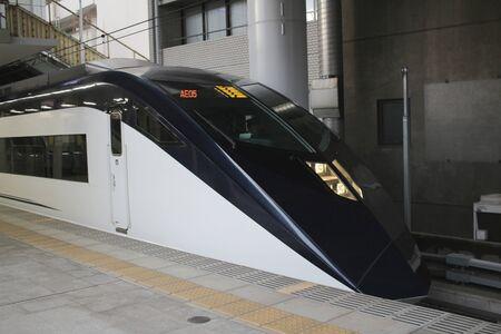 waits: Keisei Skyliner waits for passengers at Ueno terminal