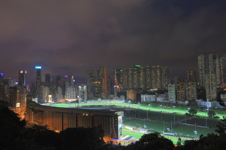 animal private: Happy Valley in night, Hong Kong 2016 Editorial