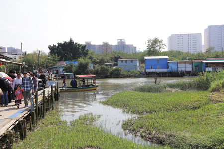 nam: the Crowds gather at Nam Sang Wai river crossing Editorial