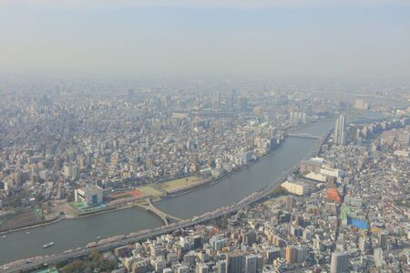 populous: Tokyo city view from Tokyo Sky Tree at 2016