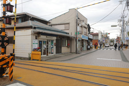 guard rail: the Rail Road Crossing Guard in Japan. Editorial