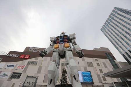 11 18M Gundam Statue at tokyo japan