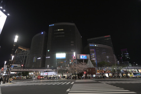 the Landmark of Ginza shopping area at night