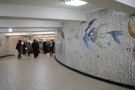 under ground: The under ground passage indoor at japan