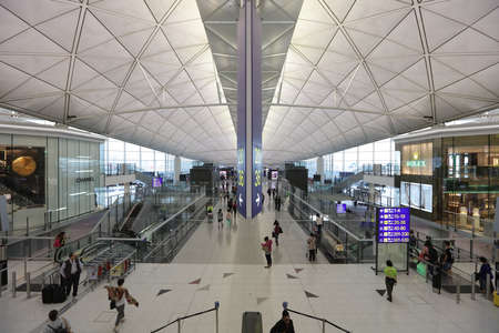 chek: The airport is located on the island of Chek Lap Kok Editorial