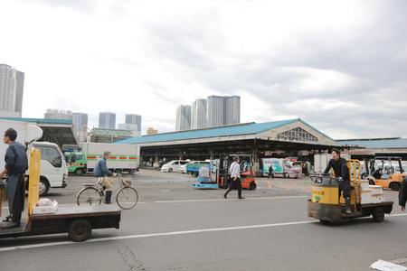 fish vendor: Tsukiji market is a large market for fish Editorial