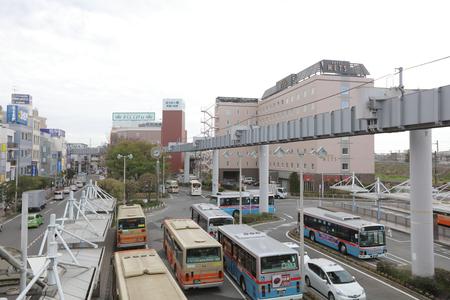monorail: the Shonan Monorail at ofuna Station