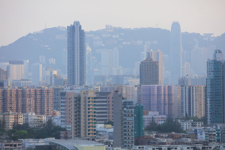 clicker: the middle of Kowloon, Hong Kong Skyline