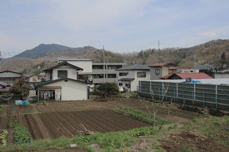 feild: Fujikyuko Line view at train of landscape at YAMANASHI