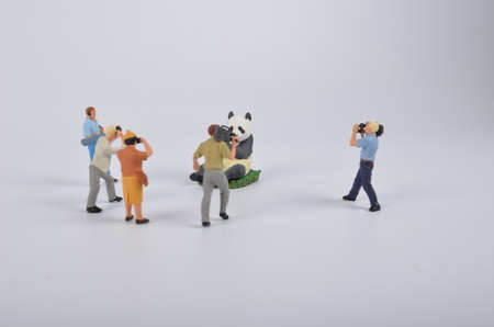 celebrities: the Plastic toy figurines. the TV Camera and Operator