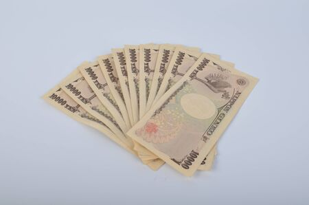 yen note: the  bank note of Japan $10000 Stock Photo