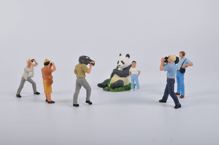 tv camera: the Plastic toy figurines. the TV Camera and Operator