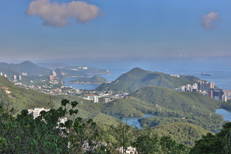 residential tree service: the peak view of Aberdeen, Hong Kong Stock Photo
